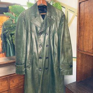 Vintage Italian Leather New York Industrie Coat